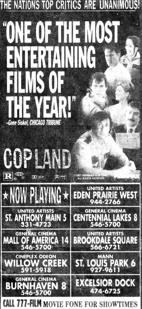 ad for Cop Land with Stallone