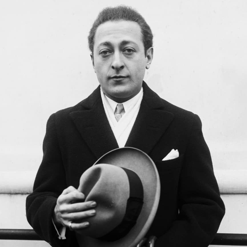 portrait of Heifetz arranger of Estrellita
