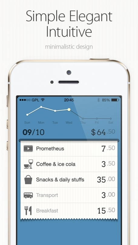 DailyCost – Simple & Elegant Personal Finance