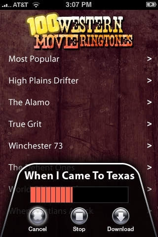 100 Western Movie Ringtones