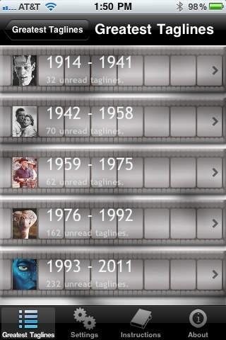 100 Years of Movie Taglines