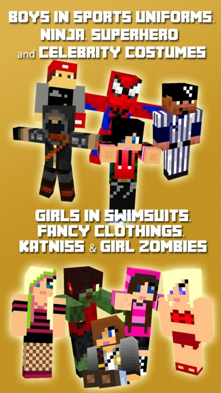 10,000+ Boy & Girl Skins for Minecraft