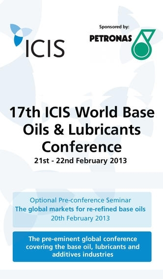 17th ICIS World Base Oils & Lubricants Conference