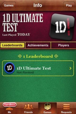 1D Ultimate Test