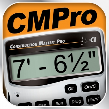 Construction Master Pro -- Advanced Feet Inch Fraction Construction Math Calculator for Contractors, Carpenters, Engineers, Architects and other Building Professionals
