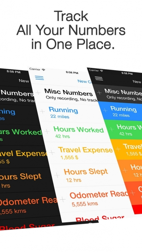 1Number Pro - Multipurpose Tracker, Number Keeper and Your Dashboard
