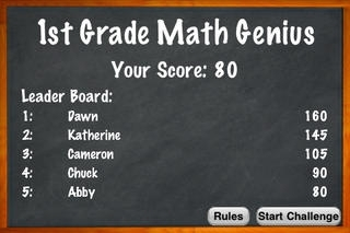 1st Grade Math Genius Challenge - Flash Cards Quiz Game For Kids