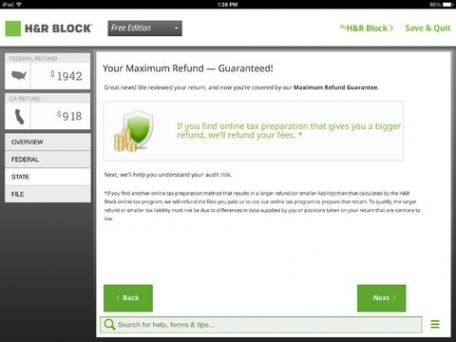 H&R Block Tax Preparation 2013