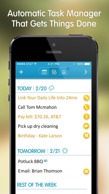 24me 2.0 - Automatic Calendar and Task Manager