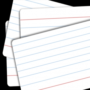 Index Cards - use them for Flashcards, Recipes, Speeches, Study Guides, Learning Facts, Taking Notes, Organizing, Business Contacts, Making Grocery Lists & More!