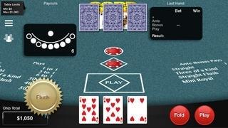 3 Card Poker Progressive: Simulated Casino Gambling