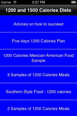 3 Day Diet and 1200 & 1500 Calories Diets