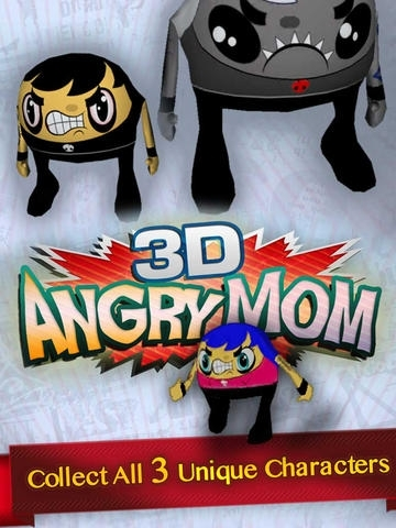 3D Angry Mom - Virtual World Augmented Reality Game