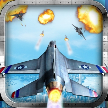 3D Jet Fighter Pilot Stealth Modern Air Plane: Free Flying Fighting Combat Games