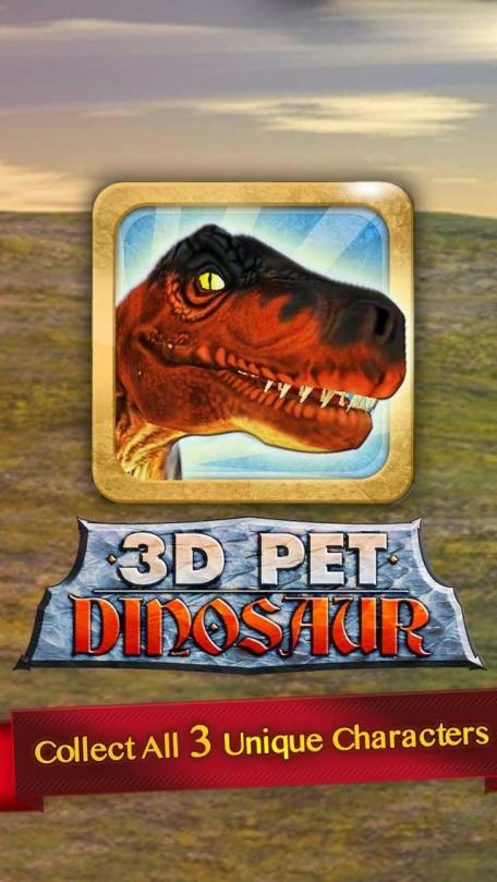3D Pet Dinosaur - Virtual Jurassic Dino Pet Park