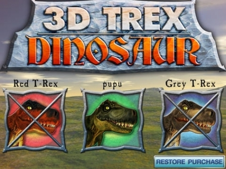 3D Trex Dinosaur - Jurassic Dinos Virtual Pet Game Park