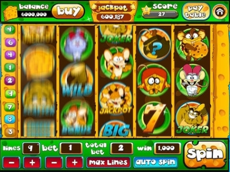 3D Video Slots Machine Real Lucky Jackpot -  Cat and Mouse Slot Machines Casino Money Games