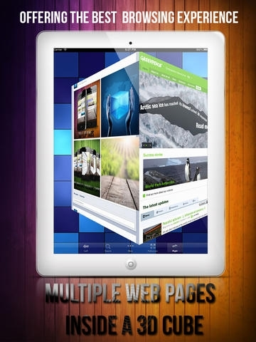 3D Web Browser - Browser with FullScreen & 3D Cube