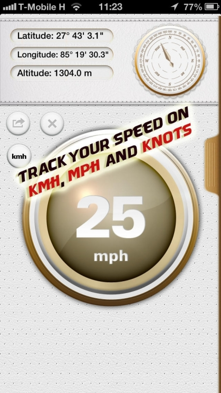 GPS Speed Tracker - Speedometer app for tracking map location & navigation as well as altitude, latitude and longitude coordinates