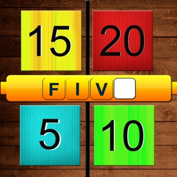 4 Numbers Free - 1 Word Math Crossword Grade Game