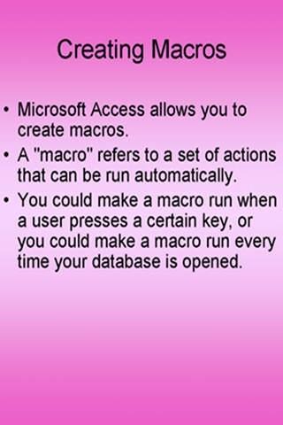 Learn Access