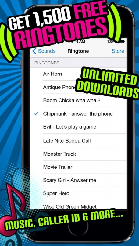 1500 Free Ringtones! - Music, Sound Effects, Funny alerts and caller ID tones
