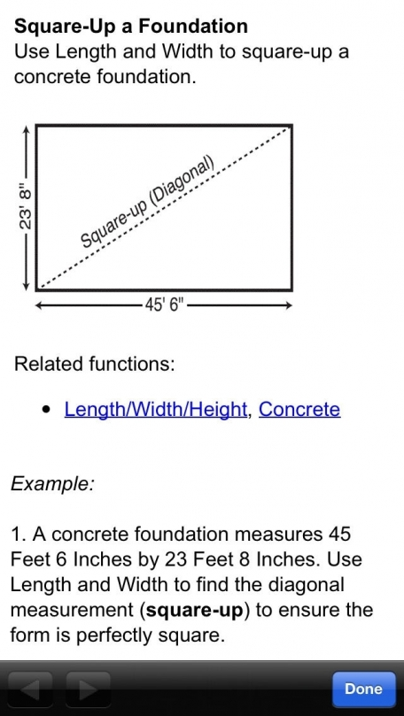 ConcreteCalc Pro -- Feet Inch Fraction Yards Metric Construction Math Calculator for Concrete and Masonry Contractors, Carpenters, Engineers, Architects and other Building Professionals