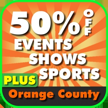 50% Off Orange County, California Events, Shows & Sports Guide Plus by Wonderiffic ™