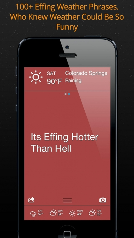 Effing Weather - Funny Local Current Weather Forecast and Temperature for Today and Tomorrow