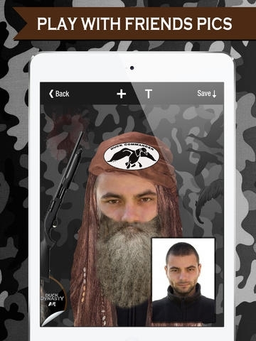 Beard+ Photo Editor with ifunny beards for Duck Dynasty Commander,Deer hunter,Bitstrips and 9gag  fans