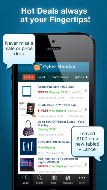 Coupons App with Mall Deals, Sales - Target, Walmart, Macy's, Kohls, HM, Best Buy Weekly Ads and Coupon Shopping