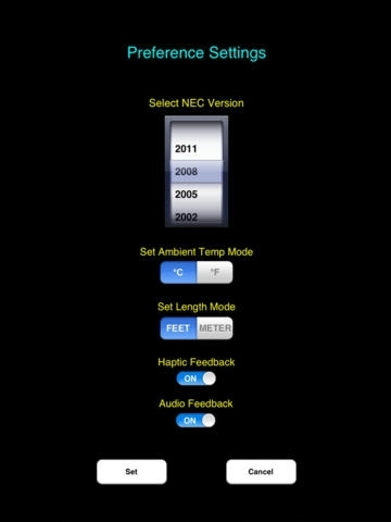 Electrical Calc Elite - Industry's top NEC code calculator designed for Electricians, Contractors, Electrical Designers, Builders, Inspectors, and Lighting professionals calculating with the National Electric Code