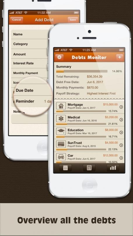 Debts Monitor Free -  Debt Tracker and Reminder
