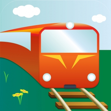 100 Trains - picture book for small kids