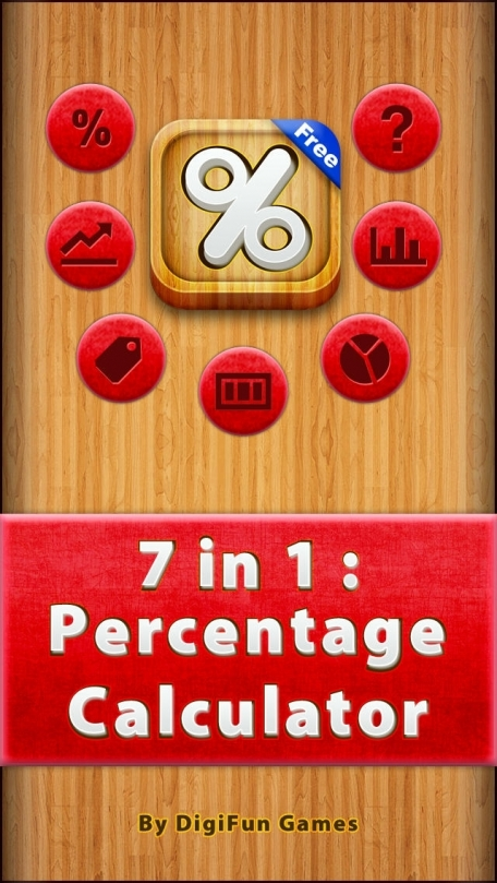 7 in 1 : Percentage Calculators Free