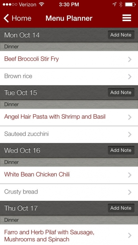BigOven 250,000+ Recipes and Grocery List