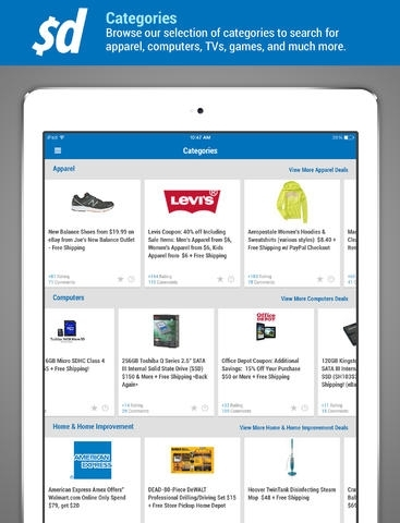 Slickdeals - The Best FREE Online Shopping Deals, Sales, Coupons, Freebies, Discounts, Savings, & Promo Codes Mobile App