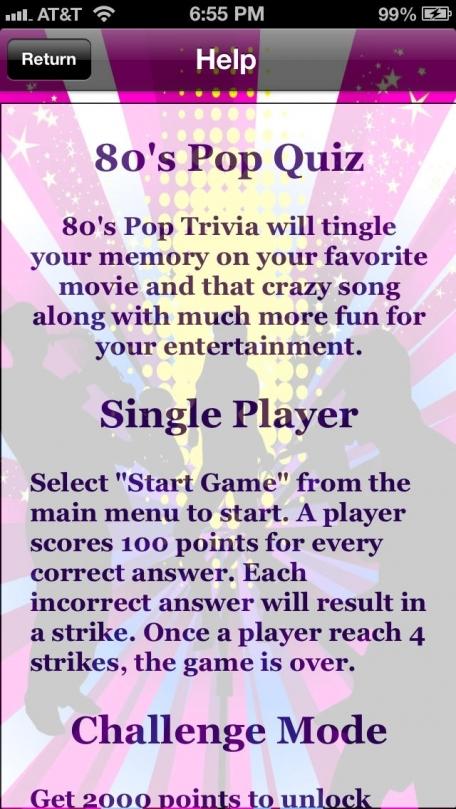 80's Pop Quiz