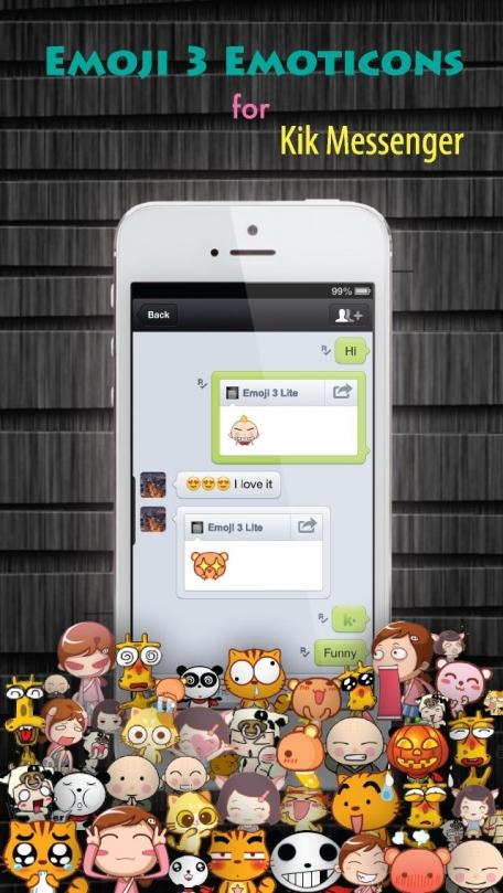Emoji 3 Emoticons for LINE, Kik, WeChat, Twitter, BBM, Zoosk & Facebook Messenger - Free Emoji Keyboard with Pop Emojis & Emoticon icons Animation Emoji - Lite Version