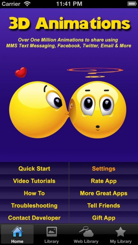 how to get animated emoticons on iphone