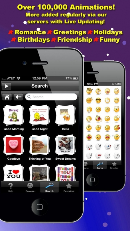 3D Animations + Emoji for MMS Text Messaging with 500,000+ Animated Emoticons for iPhone and iPad
