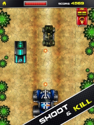 tiny monster truck vs car war warriors army shooter game