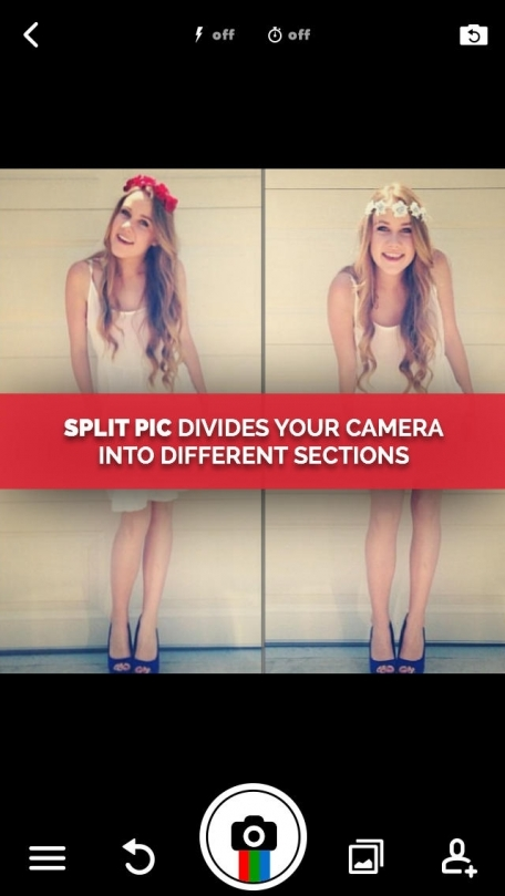 Split Pic Photo Editor - Clone Yourself, Mirror Effect IG Edits with Filters + Snap Pic Collage Blender with Facebook Friends