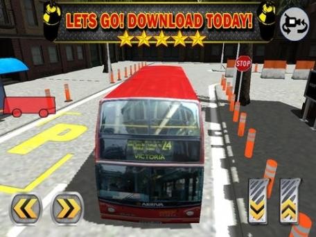 A 3D Bus Parking Challenge - Realistic Double Decker Driving Game