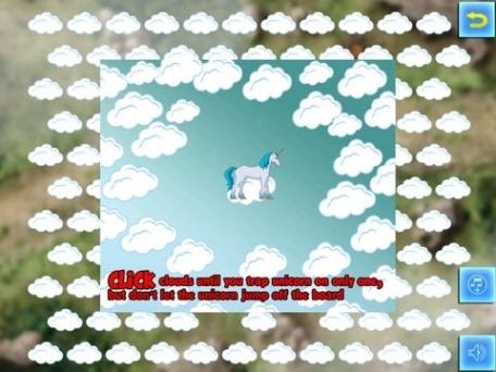 A Baby Unicorn Cloud Jump Escape