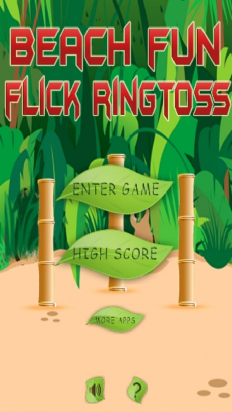 A Beach Fun Flick Ring Toss - Tropical Family Fun Play - Free Version