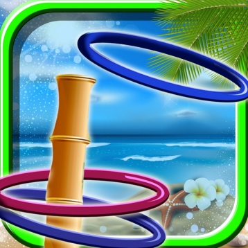 A Beach Fun Flick Ring Toss - Tropical Family Fun Play - Full Version