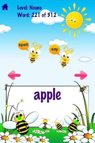 A Bee See Sight Words Free Lite - Talking & Spelling Flash cards Kids / Toddler Games