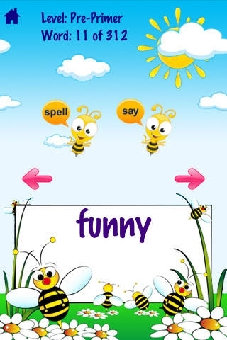 A Bee See Sight Words - Talking & Spelling Flash cards Kids / Toddler Games
