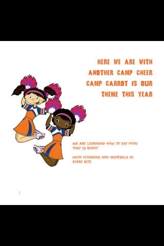 A CAMP CARROT  CHEER FOR GOOD NUTRITION